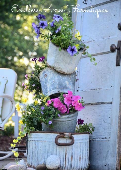 Primitive Tipsy Pot planter by Endless Acres Farmtiques