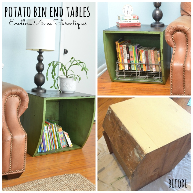 Potato Bin End tables www.endlessacresfarmtiques.com